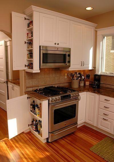 Utilize All the Room - Kitchen Cabinet Storage Ideas