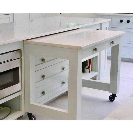 A Pull-Out Counter - Providing More Space