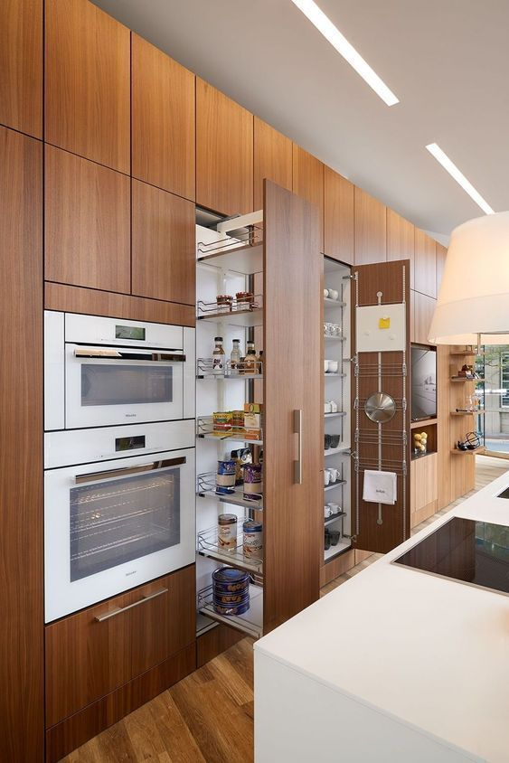 Pull-Out Shelves - Kitchen Cabinet Organization Ideas