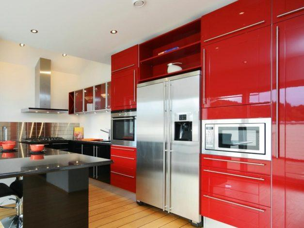 Adventurous and Exciting – Red Modern Kitchen Cabinets
