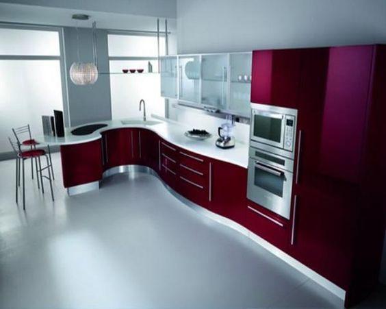 A Wavy Design - Modern Kitchen Cabinet Ideas