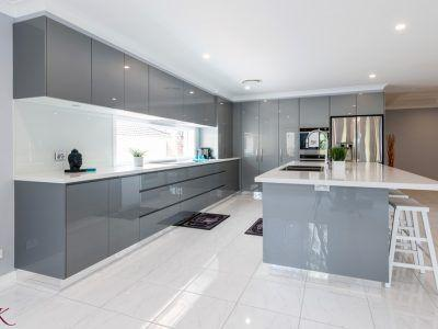 A Grey Lacquer - Modern Kitchen Cabinet Ideas
