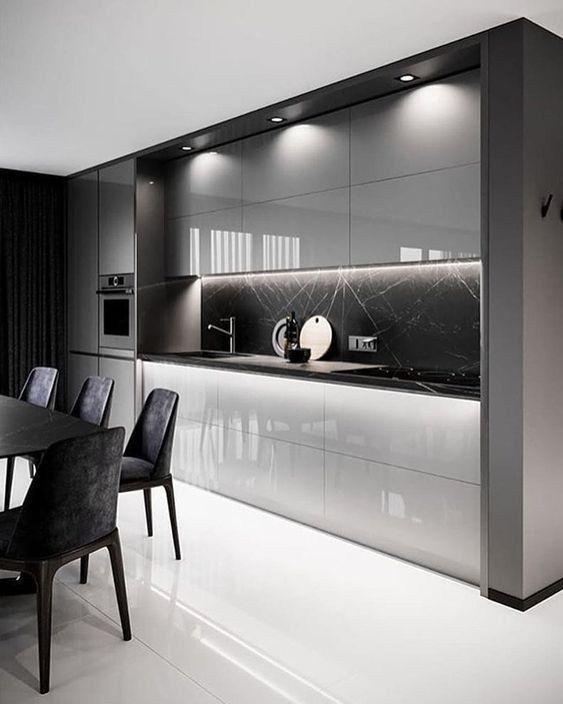Gorgeous in Grey – Modern Kitchen Cabinet Ideas