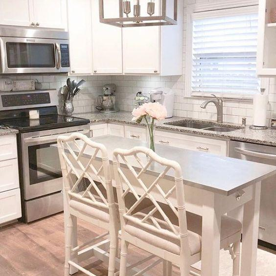 A Tiny Dining Table - Small Kitchen Island with Seating