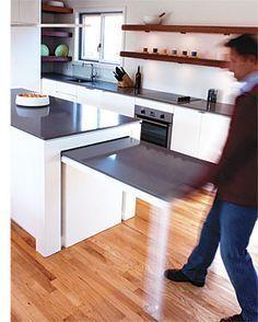 Another Pull-Out - Small Kitchen Island Ideas with Seating
