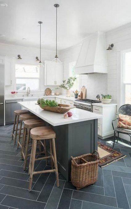 A Long Kitchen Island - Perfect for Cooking