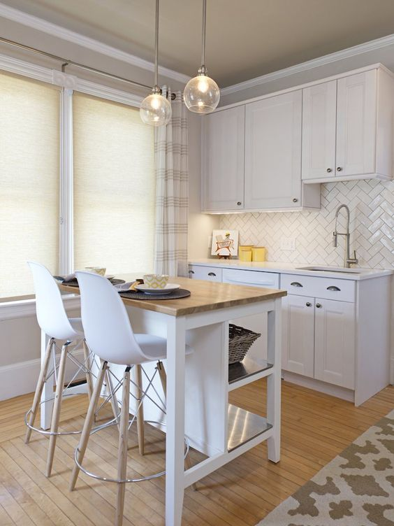A Practical Idea - Small Kitchen Island with Seating