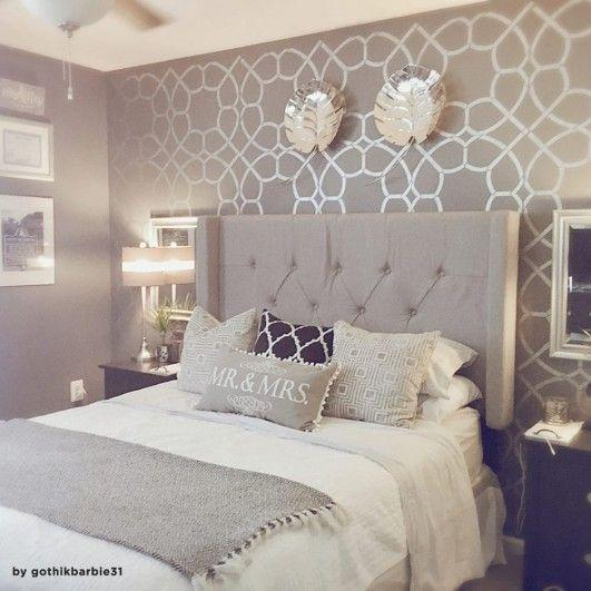 A Pretty Wallpaper - Small Master Bedroom Ideas