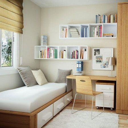 Floating Shelf Idea - Small Bedroom Ideas for Teenage Girl