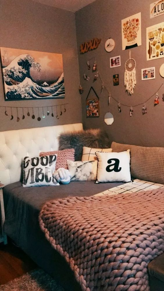 Couch and Bed - Small Bedroom Ideas for Teenage Girl