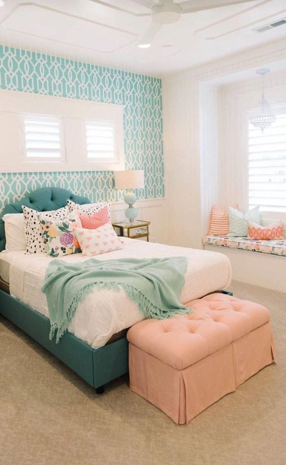 Delicate Patterns - Teenage Bedroom Ideas for Small Rooms