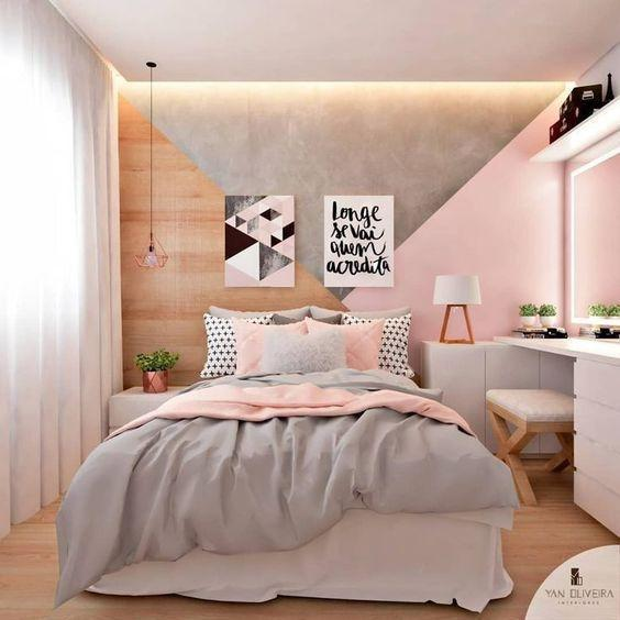 Bright and Beautiful - Pink, Grey and Wood