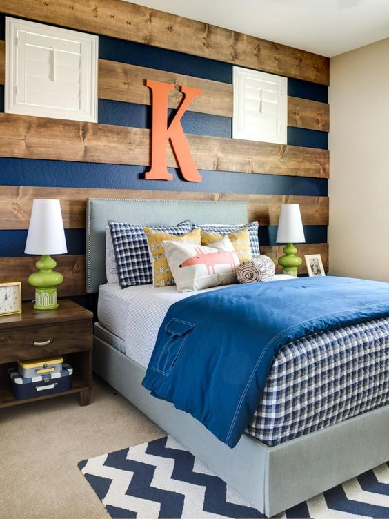 Wooden Stripes - Cute Little Boy Room Ideas
