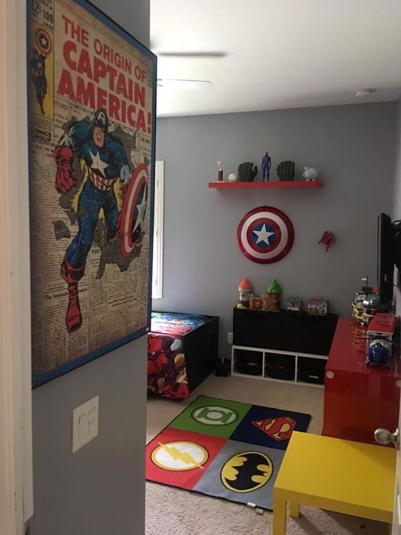 A Superhero Theme - Toddler Boy Room Ideas