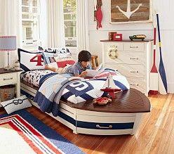 Sailing the Seas - On a Sailboat Bed
