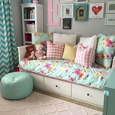 Bed with Drawers - Little Girl Bedroom Decor