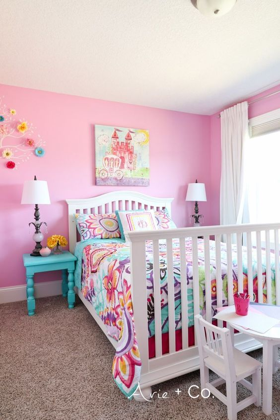 A Pink Room - Toddler Girl Bedroom Ideas on a Budget