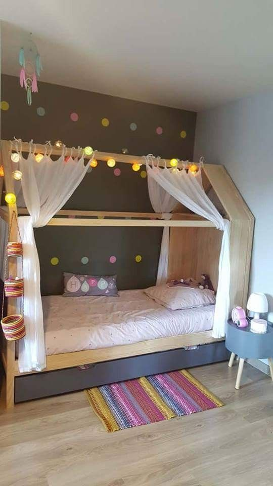 Colour on a Dark Wall - Little Girl Bedroom Decor