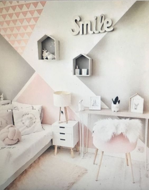 Using a Geometric Design - Little Girl Room Decor