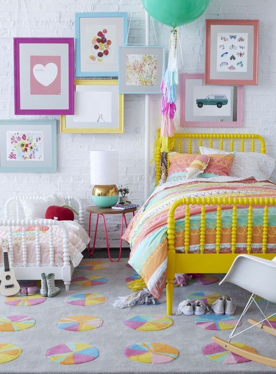 Colourful Frames - Beautiful Little Girl Bedroom Decor