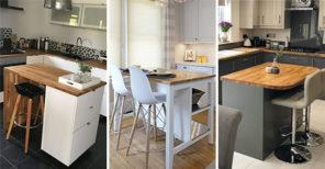 25 SMALL KITCHEN ISLAND WITH SEATING - Small Kitchen Island Ideas with Seating