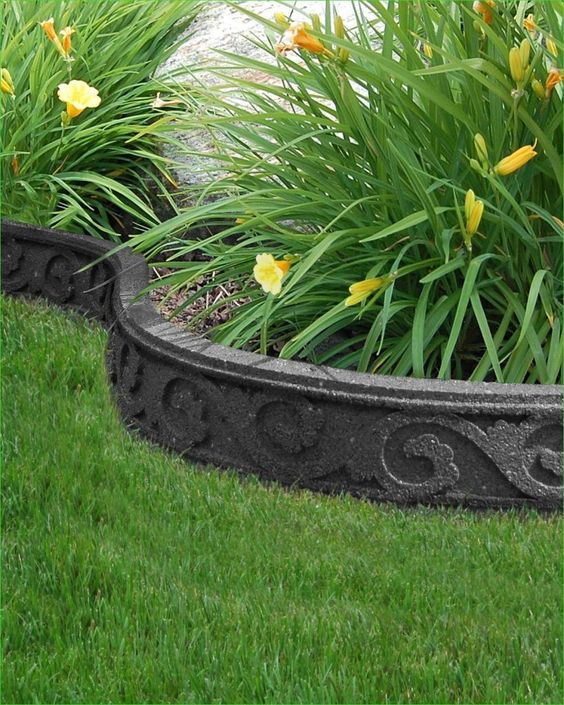 A Raised Flower Bed - A Stylish Stone Barrier