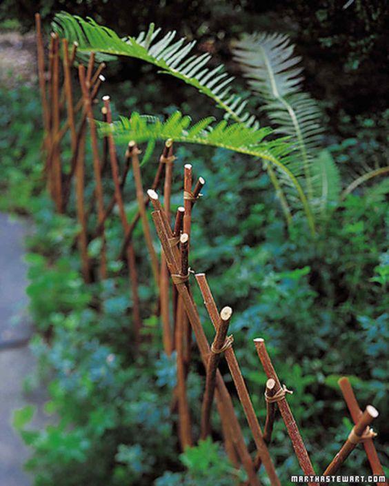A Handmade Fence - Garden Edging Designs