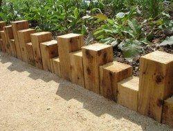 Blocks of Wood – Keeping Your Garden Simplistic