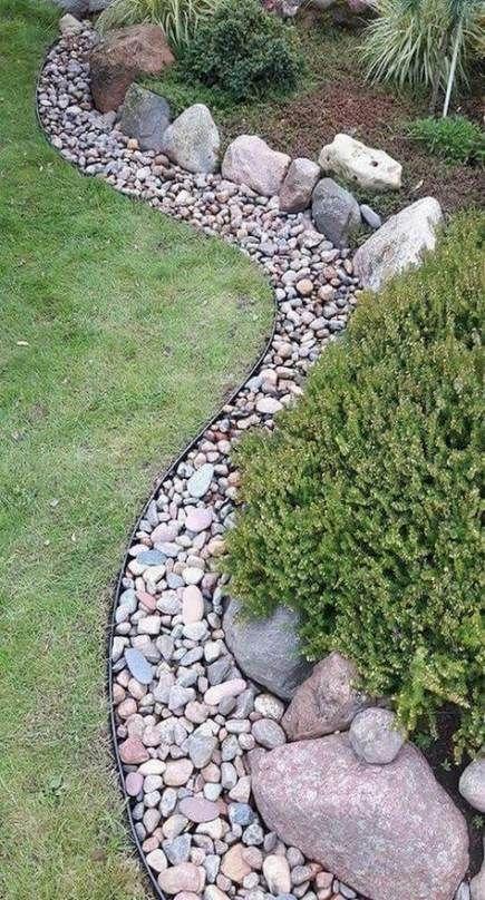 A Variety of Rocks – Easy Garden Edging