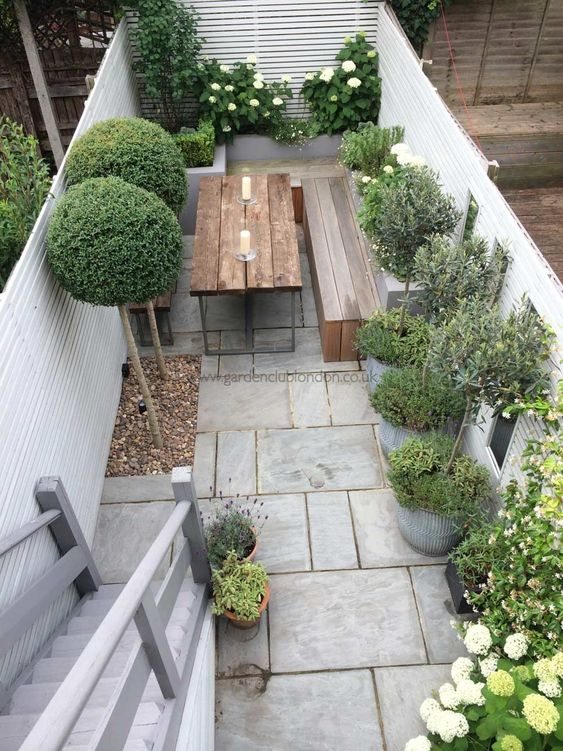 Seats and a Table - Very Small Garden Ideas on a Budget