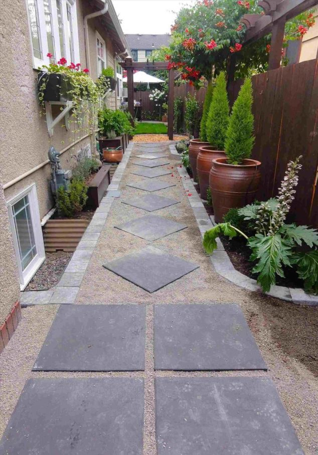 A Cute Pathway - Very Small Garden Ideas on a Budget