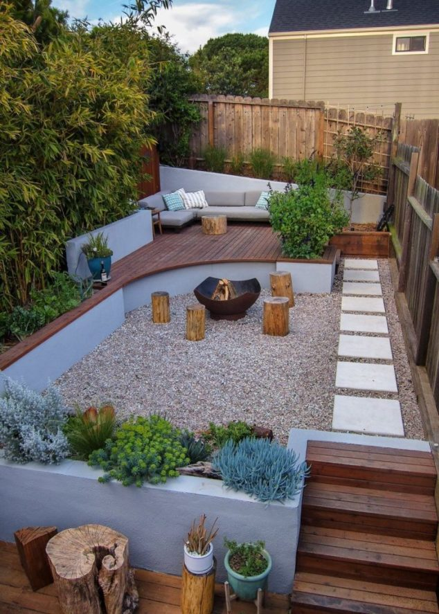 A Zen Ambience – Succulents, Wood and Stone