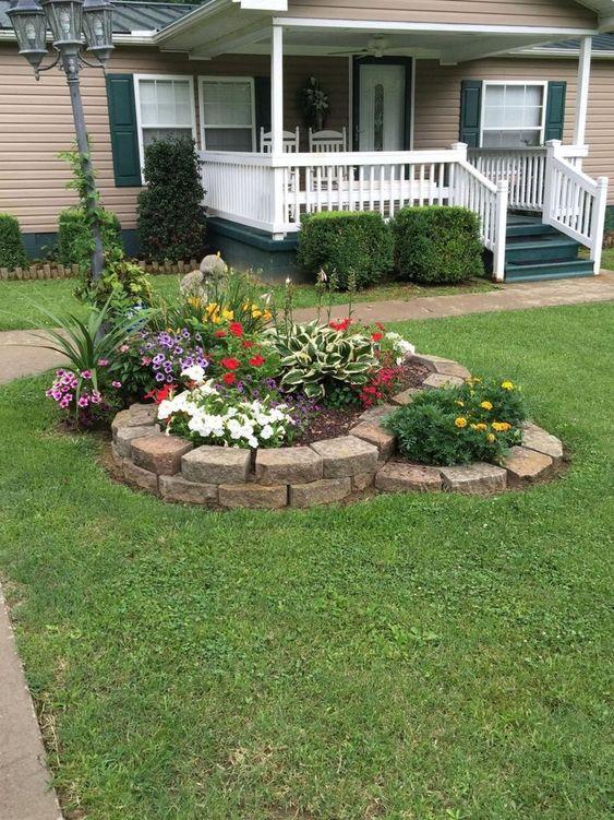 Island of Flowers - Small Garden Ideas