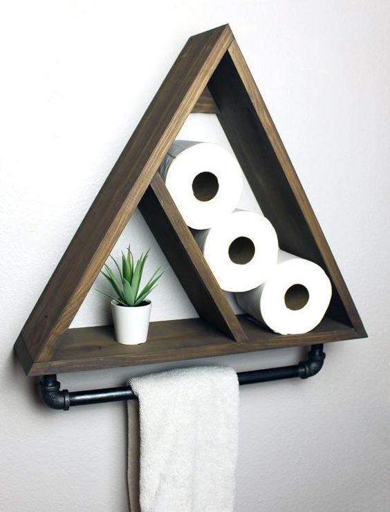 Geometric and Gorgeous – Decorative Bathroom Shelf Ideas