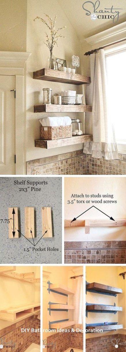 Floating Shelves - Decorative Bathroom Shelf Ideas