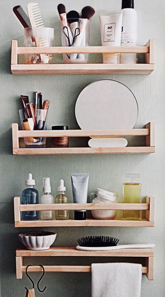 For Makeup and Cosmetic Products - Bathroom Wall Shelves