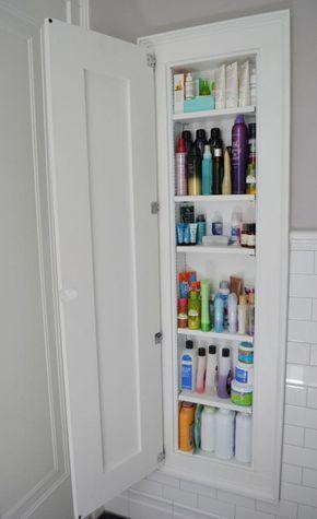 Built-In Cabinets - Bathroom Wall Shelves