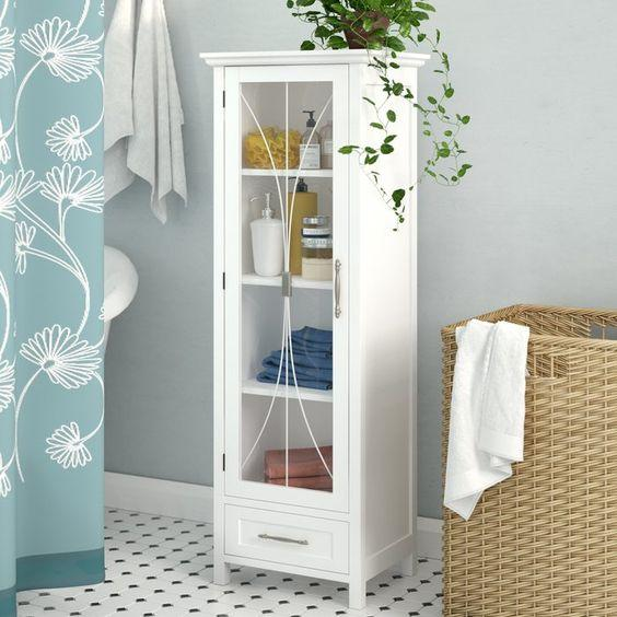 Refined and Pretty - Decorative Bathroom Shelf Ideas
