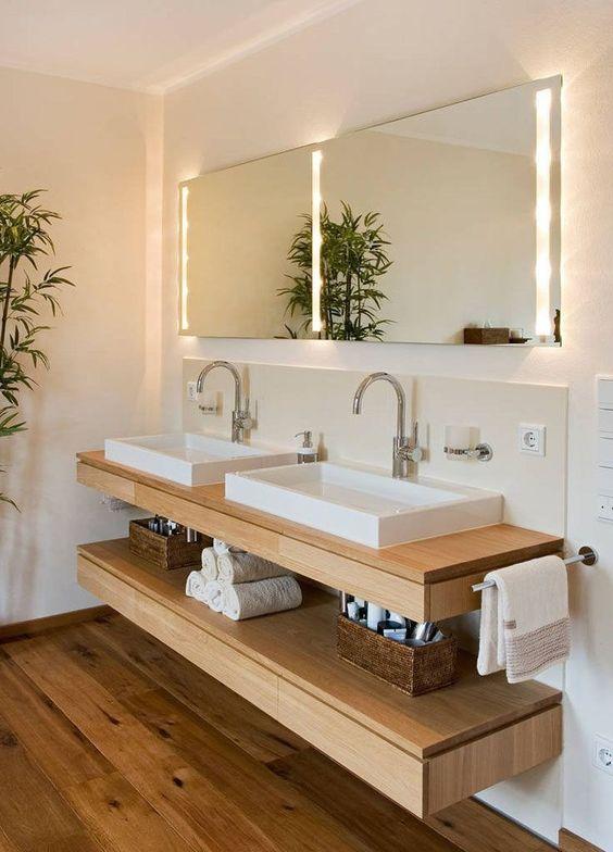 A Floating Shelf – Underneath the Bathroom Sink