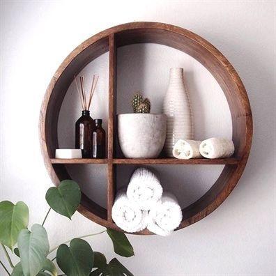 A Circular Shelf - Decorative Bathroom Shelf Ideas