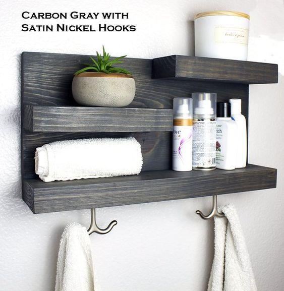 An Easy Design - Unique Bathroom Wall Shelves