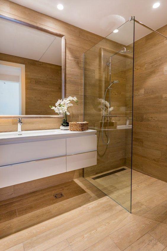 Wonderful in Wood - Simple Bathroom Ideas