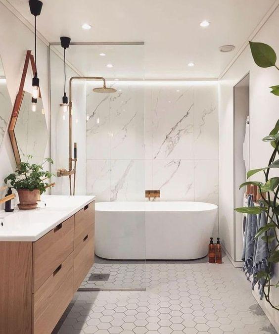 Sleek in White – Adding a Few Plants
