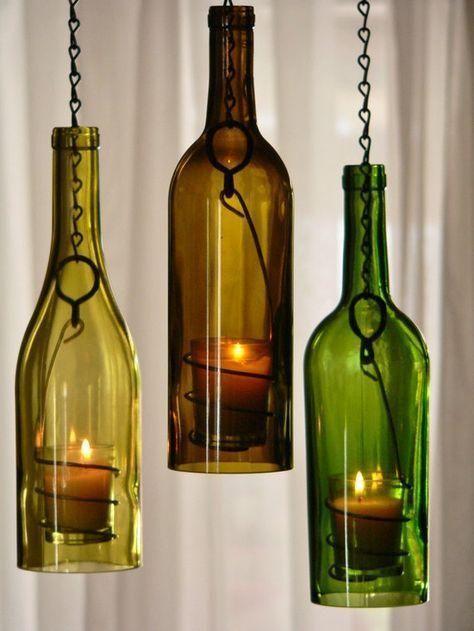 Wine Bottle Lanterns - Romantic Summer Decorations
