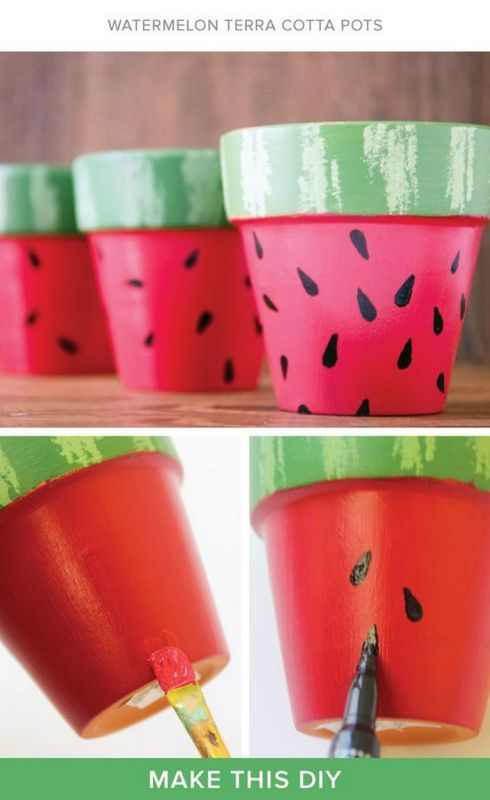 Watermelon Pots - Adorable and Summery