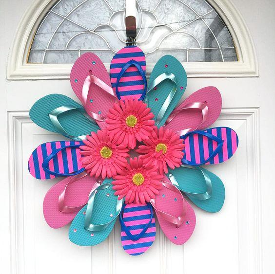 A Flip Flop Wreath - Creative and Bold