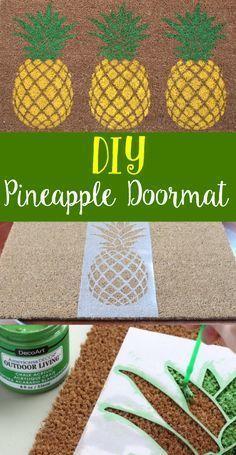 Handmade Pineapple Doormat - Get Creative with Pineapples