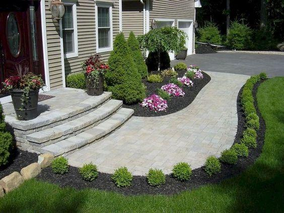 Decorate Your Pathway - Front Yard Landscaping Ideas on a Budget