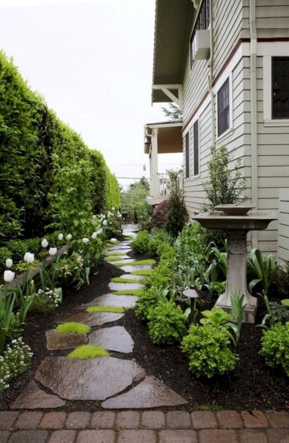 Stepping Stones - Front Yard Landscaping Ideas on a Budget