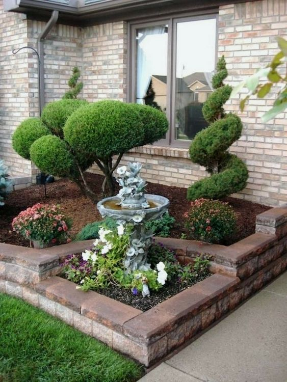 Adding a Fountain – Front Yard Landscaping Ideas on a Budget